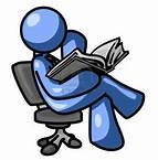 blue guy reading