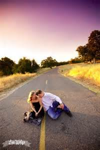 Couple lying in road