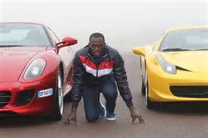 usain bolt and cars